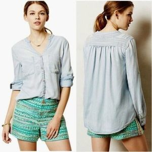 Anthropologie Holding Horses Bandera Button Down